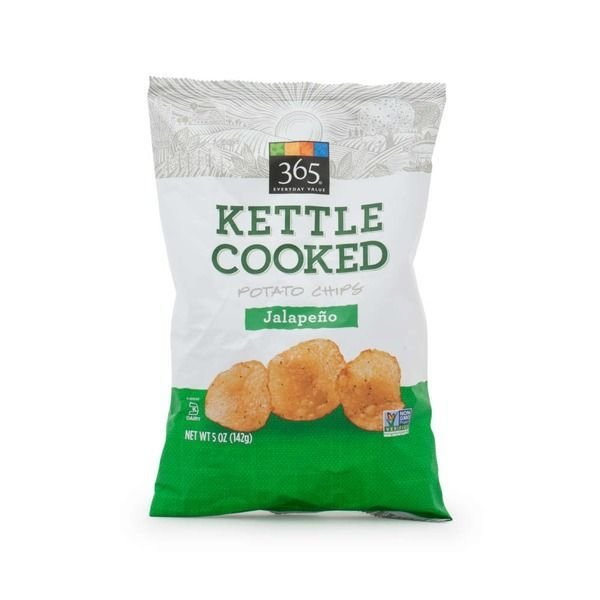 Potato Chips, 365® Jalapeño Kettle Cooked Potato Chips (5 oz Bag)