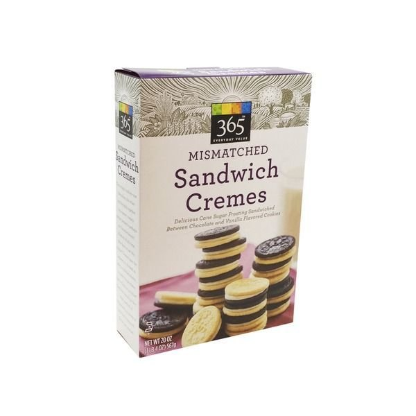 Sandwich Cookies, 365® Mismatched Sandwich Cremes (20 oz Box)