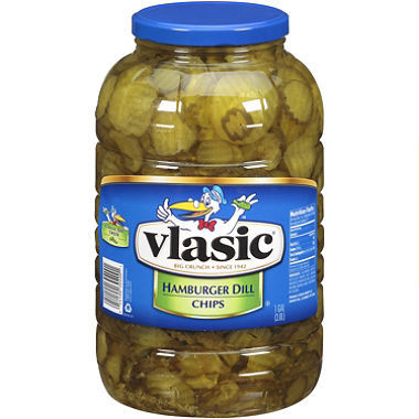 Preserved Pickles, Vlasic® Kosher Hamburger Dill Chip Pickles (128 oz Jar)