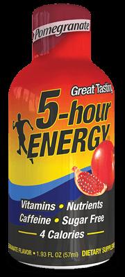 Energy Drink, 5 Hour Energy® Pomegranate, 1.93 oz (2 Bottles)