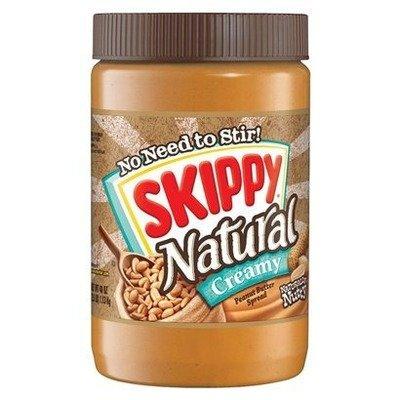 Peanut Butter, Skippy® Natural Creamy Peanut Butter (15 oz Jar)