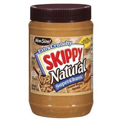Peanut Butter, Skippy® Natural Super Chunk Peanut Butter (15 oz Jar)