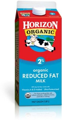 Dairy Milk, Horizon® Organic 2% Reduced Fat Milk (½ Gallon Carton)
