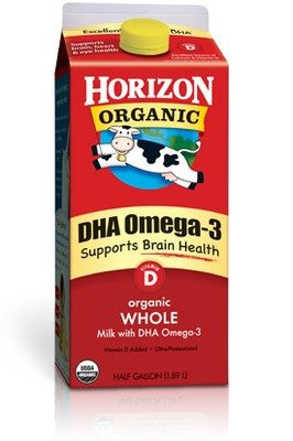 Dairy Milk, Horizon® Organic Whole Milk with DHA Omega-3 (½ Gallon Carton)