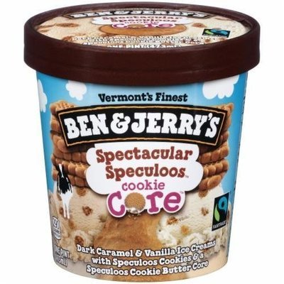 Ice Cream, Ben & Jerry's® Spectacular Cookie Core Ice Cream (1 Pint, 16 oz Cup)