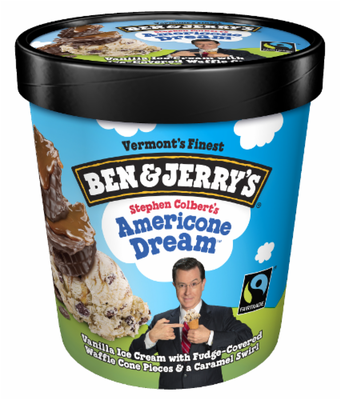 Ice Cream, Ben & Jerry's® AmeriCone Dream Ice Cream (1 Pint, 16 oz Cup)
