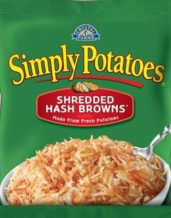 Frozen Potatoes, Simply Potatoes® Shredded Hash Browns (20 oz Bag)