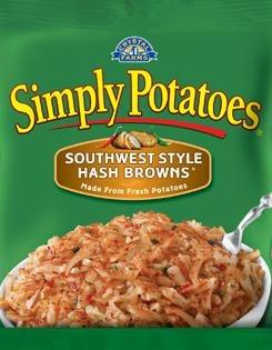 Frozen Potatoes, Simply Potatoes® Southwest Style Hash Browns (20 oz Bag)