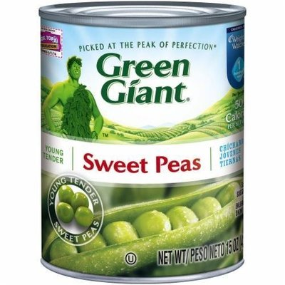 Canned Peas, Green Giant® Sweet Peas (15 oz Can)