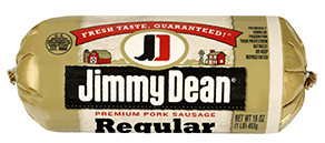 Fresh Ground Sausage, Jimmy Dean® Premium Pork Regular Sausage (16 oz Tube)