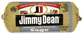 Fresh Ground Sausage, Jimmy Dean® Premium Pork Sage Sausage (16 oz Tube)