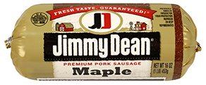 Fresh Ground Sausage, Jimmy Dean® Premium Pork Maple Sausage (16 oz Tube)