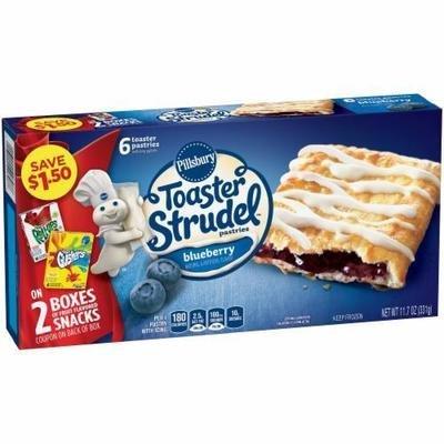 Strudel, Pillsbury® Blueberry Toaster Strudel (6 count, 11.7 oz Box)
