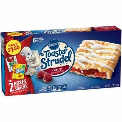 Strudel, Pillsbury® Cherry Toaster Strudel (6 count, 11.7 oz Box)