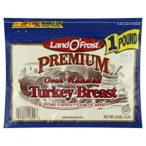 Turkey Deli Meat, Land O'Frost® Premium Oven Roasted Turkey Breast (16 oz Bag)