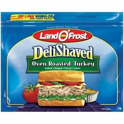 Turkey Deli Meat, Land O'Frost® Deli Shaved Oven Roasted Turkey (10 oz Bag)