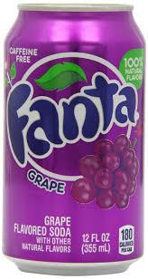 Soda, Fanta® Grape Soda ( 1 Single, 12 oz Can)