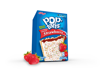Toaster Pastries, Kellogg's® Pop Tarts® Strawberry, Frosted, 14.7 oz Box (8 per Box)