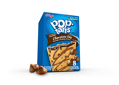 Toaster Pastries, Kellogg's® Pop Tarts® Chocolate Chip, Frosted, 14.7 oz Box (8 per Box)