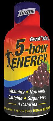 Energy Drink, 5 Hour Energy® Grape, 1.93 oz (2 Bottles)
