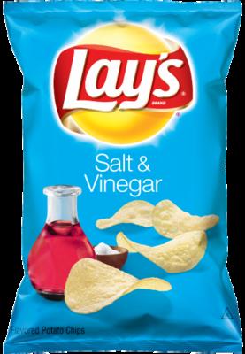 Potato Chips, Lay's® Salt & Vinegar Potato Chips (7.75 oz Bag)