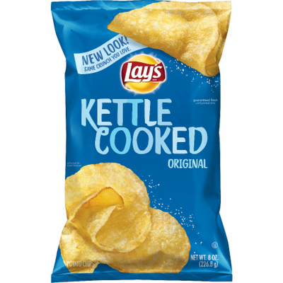 Potato Chips, Lay's® Kettle Cooked® Original Potato Chips (8 oz Bag)