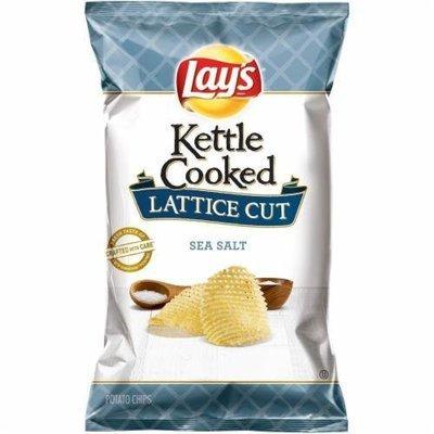 Potato Chips, Lay's® Kettle Cooked® Lattice Cut Sea Salt Potato Chips (7 oz Bag)