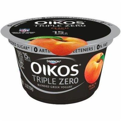 Yogurt, Dannon® Oikos® Triple Zero Peach Yogurt (5.3 oz Cup)