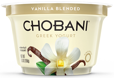Yogurt, Chobani® Greek Vanilla 0% Yogurt (5.3 oz Cup)