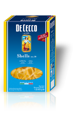 Pasta, De Cecco® Shells Pasta, 16 oz Box