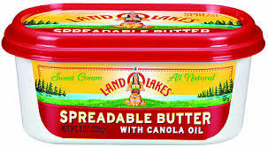Butter, Land O Lakes® Butter Spread with Canola Oil (8 oz Tub)