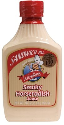 Horseradish Sauce, Woeber's® Smoky Horseradish Sauce (16 oz Bottle)