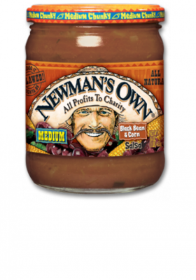 Salsa, Newman's Own® Medium Chunky Black Bean & Corn Salsa (16 oz Jar)