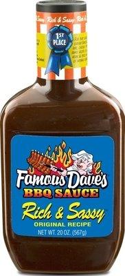 BBQ Sauce, Famous Dave's® Rich & Sassy BBQ Sauce (20 oz Bottle)