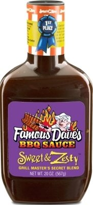 BBQ Sauce, Famous Dave's® Sweet & Zesty BBQ Sauce (20 oz Bottle)
