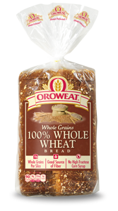 Loaf Bread, Oroweat® 100% Whole Wheat Bread (24 oz Bag)