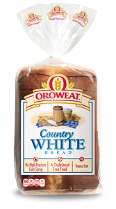 Loaf Bread, Oroweat® Country White® Bread (24  oz Bag)