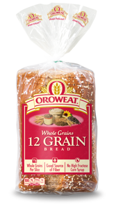 Loaf Bread, Oroweat® 12 Grain® Bread (24 ox Bag)