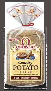 Loaf Bread, Oroweat® Country Potato® Bread (24 oz  Bag)
