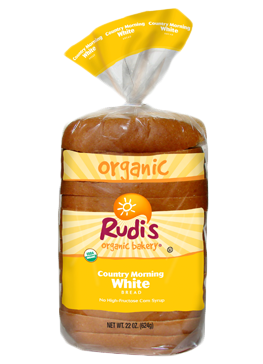 Loaf Bread, Rudi's® Country Morning White Bread (22 oz Bag)