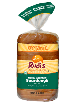 Loaf Bread, Rudi's® Rocky Mountain Sour Dough Bread (22 oz Bag)