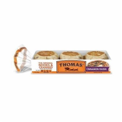 English Muffins, Thomas® Cinnamon Raisin English Muffins (13 oz, 6 Count Bag)