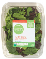 Fresh Salad Greens, Simple Truth Organic™ 50/50 Blend Lettuce (5 oz Tray)
