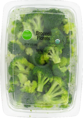 Fresh Broccoli, Simple Truth Organic™ Broccoli Florets (10 oz Tray)