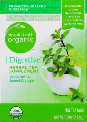 Tea, Simple Truth Organic™ Digestive Herbal Tea (16 Bags, .99 oz Bags)
