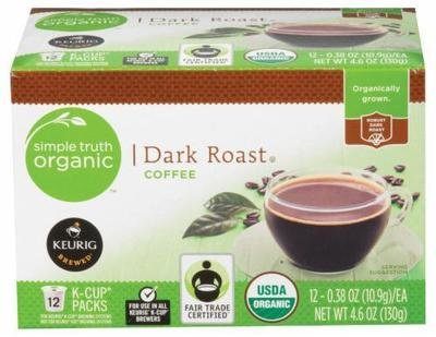 K Cup Coffee, Simple Truth™ Dark Roast K Cup Coffee (Box of 12 Single K Cups)
