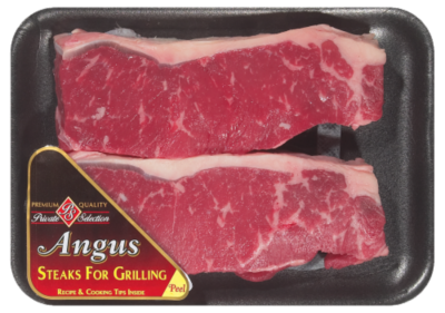 Meat, Private Selection® New York Strip Steak (16 oz Tray)