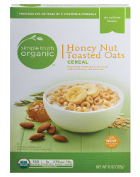 Cereal, Simple Truth Organic™ Honey Nut Toasted Oats Cereal (10 oz Box)