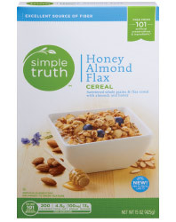 Cereal, Simple Truth™ Honey Almond Flax Cereal (17 oz Box)