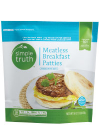 Frozen Meatless, Simple Truth™ Meatless Breakfast Patties (14 oz Bag)